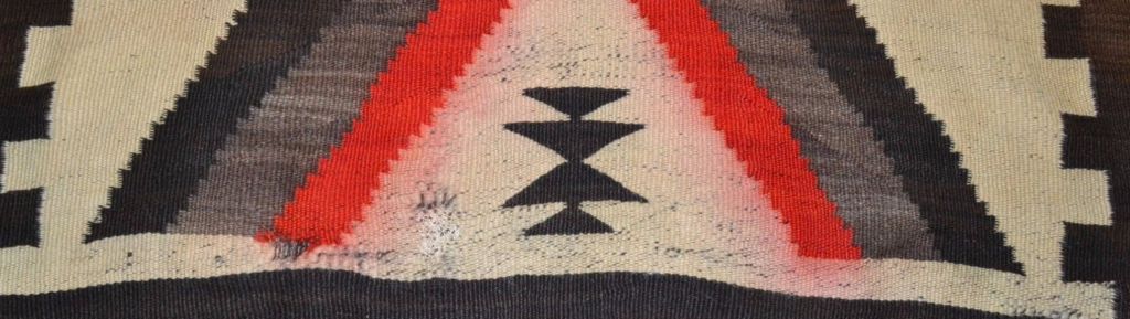 Navajo Rug With Dye Bleed